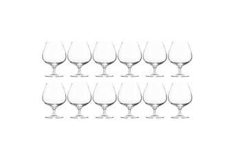 12pc Krosno Harmony Collection 550ml Cognac Brandy Spirit Glass Barware Glasses