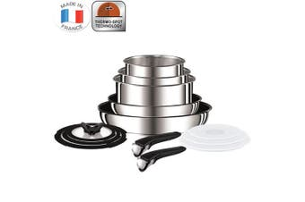 Tefal Ingenio 13pc Stainless Steel Stackable Set Pan Frypan Pot Oven Induction