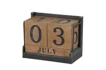 Amalfi Daily Calendar Wood Cube Block Month Date Display Office Desk Home Decor
