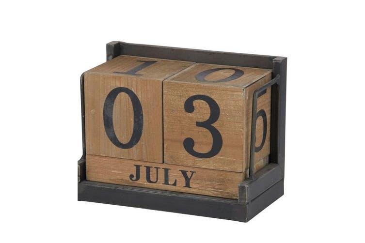 Amalfi Daily Calendar Wood Cube Block Month Date Display Office Desk Home Decor