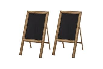 2PK Amalfi Fairhaven 80cm Blackboard Cafe School Bamboo Home Kitchen Notes Black