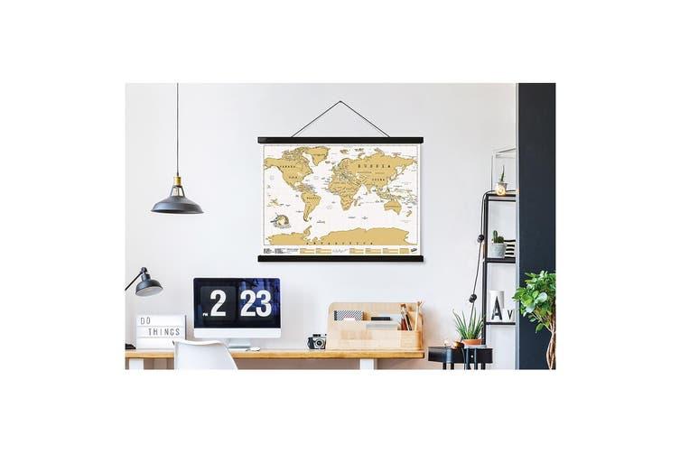 Luckies Hang! Magnetic Hanging System Holder 87cm Landscape Frame for Poster Map