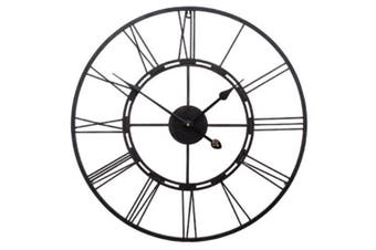 Amalfi 60cm Black Metal Frame Wall Clock Analogue Home Decor Mountable Handmade