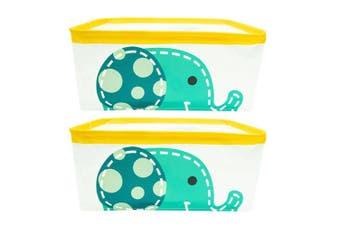 2PK Marcus & Marcus Foldable Storage Basket Baby Kids Organiser w  Handles Ollie