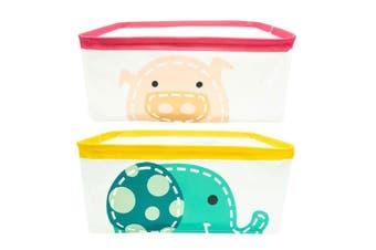 2pc Marcus & Marcus Foldable Storage Basket w  Handles Baby Kids Ollie Pokey