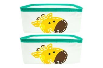 2PK Marcus & Marcus Baby Kids Foldable Storage Basket Organiser w  Handles Lola