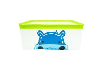 Marcus & Marcus Foldable Storage Basket w  Handles Baby Kids Lucas Hippo Blue