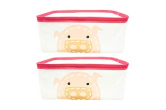 2PK Marcus & Marcus Baby Kids Foldable Storage Basket Organiser w  Handles Pokey