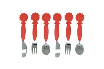 6pc Marcus & Marcus Kids Cutlery Set Spoon Fork Knife Stainless Steel 3y+ Lion R