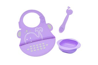 Marcus & Marcus Baby Silicone Feeding Bib Bowl Spoon Set Toddler 12m+ Willo PPL
