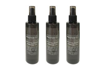 3x MasterPro 200ml Food Safe Revitalising Mineral Oil Wood Chopping Board Spray
