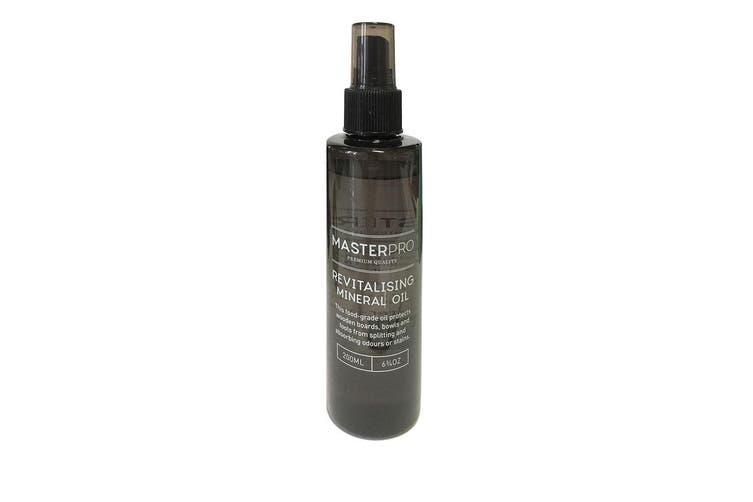 3x MasterPro 200ml Food Safe Revitalising Mineral Oil Wood Chopping Board Spray
