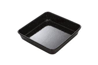 MasterPro 23x4cm Enamel Carbon Steel Square Baking Pan Oven Induction Dishwasher