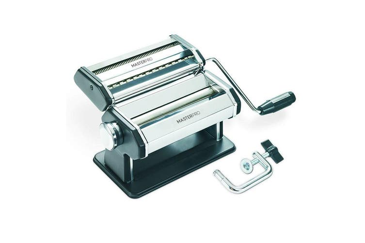 MasterPro Extra Wide Pasta Machine Lasagna Fettuccine Noodle Maker Cutter Silver