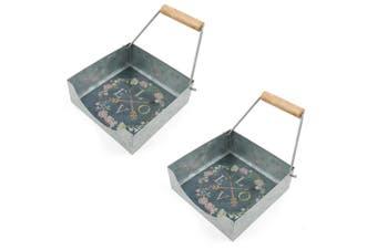 2x ThirstyStone 17cm Scroll Kitchen Table Napkin Serviette Holder Storage Love