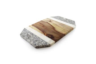 ThirstyStone 31x20cm Marble Octagonal Cheese Food Serving Board Platter
