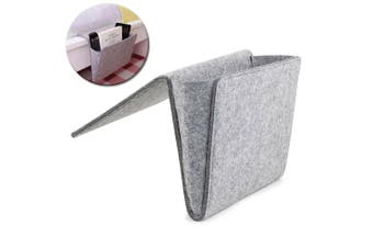 Kikkerland Hanging Sofa Bedside Pocket Felt Storage Home Organiser Holder Grey