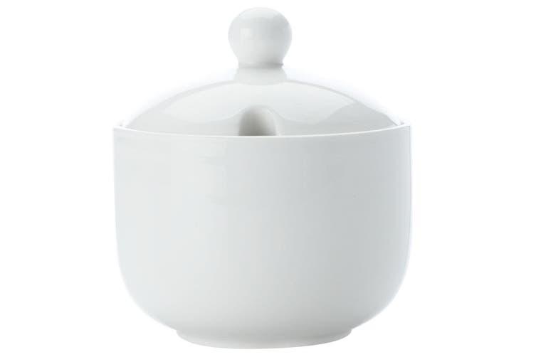 Maxwell Williams White Basics 11cm Porcelain Jumbo Sugar Bowl Container w Lid