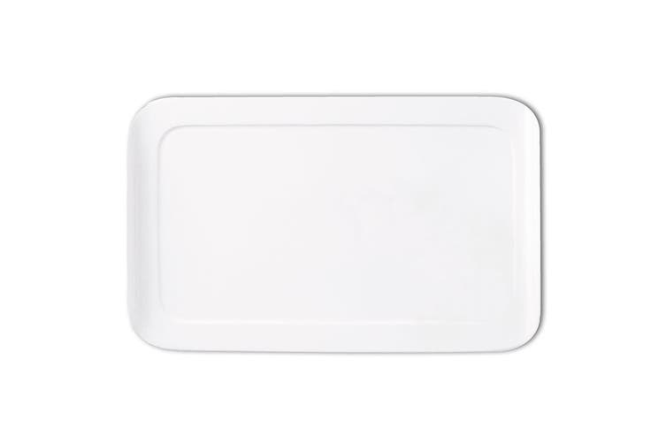 Maxwell & Williams 25cm White Basic Curve Rectangle Serving Cheese Platter Tray