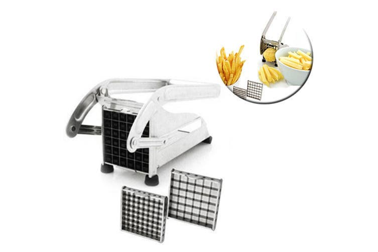 Savannah Stainless Steel Fries Potato Maker Chopper Chipper Cutter Veggie Blades