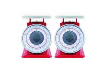 2x Savannah 5kg 20g Professional Mechanical Kitchen Scale Food Balanc Weight Red