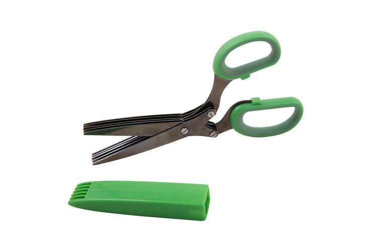 Savannah Titanium 5 Blades Scissors Shears Stainless Steel Herbs Veggie Chopper