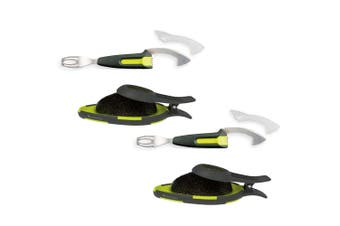 4pc Savannah Smart Avocado Core Remover Kitchen Slicer Cutter Peeler Set Green
