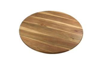 Fine Foods 50x50cm Lazy Susan Round Serving Food Cheese Platter Wood Board