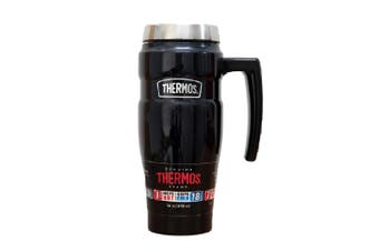 Thermos 470ml Stainless Steel Vacuum Insulated King Tumbler Mug with Handle Blue