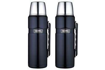 2PK Thermos 1.2L Vacuum Insulated Stainless Steel Flask Water Bottle Midnight BL