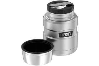 Thermos Stainless Steel King 470ml Food Jar Hot Cold Flask Container with Spoon