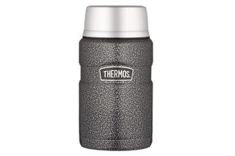 Thermos 710ml Vacuum Insulated Stainless Steel Food Jar Flask Hammertone Grey