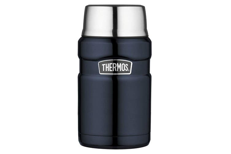 Thermos 710ml Vacuum Insulated Stainless Steel King Food Jar Flask Midnight Blue