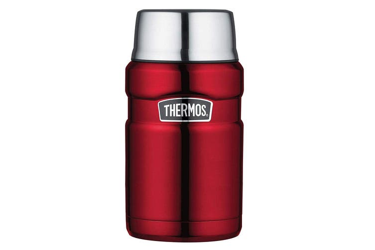 Thermos 710ml Vacuum Insulated Stainless Steel King Food Jar Flask Container Red