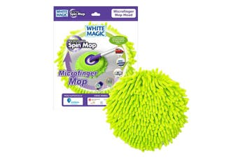 White Magic Microfinger Mop Head Cleaning Microfibre Window Car Cleaner Green