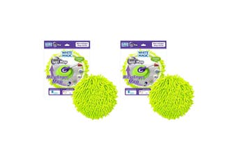 2PK White Magic Microfinger Mop Head Cleaning Microfibre Window Car Cleaner GRN