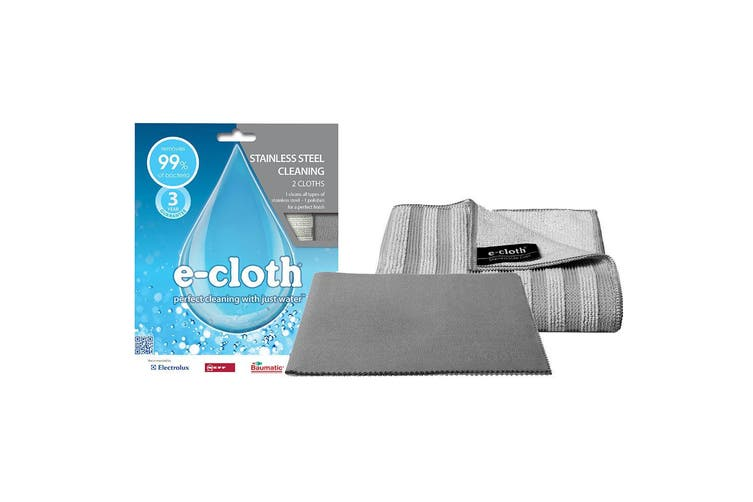 E-Cloth 2pc Stainless Steel Washable Cleaning Glass Polishing Cloth Towel Clean