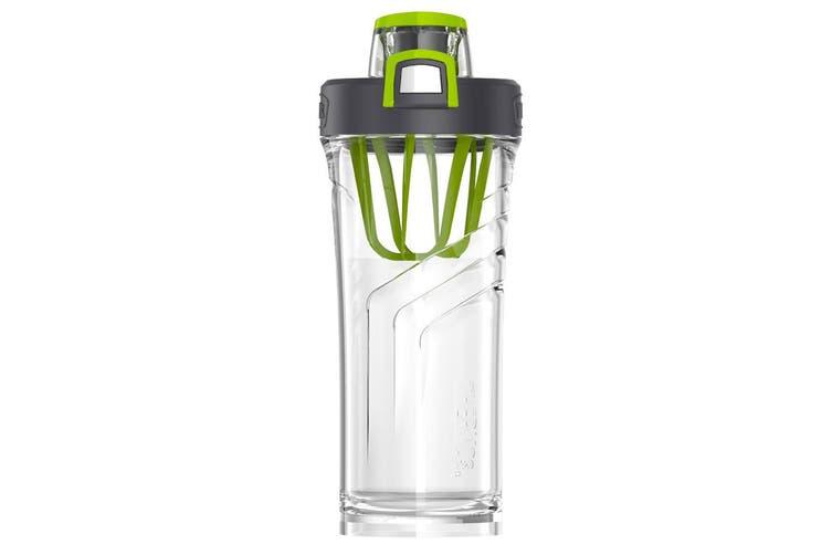 Thermos 710ml Tritan Protein Shaker Bottle Mixer Sports Gym Fitness Tumbler GRN