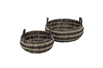 2pc Amalfi Pattaya Baskets Set w  Handle Home Decor Laundry Storage Organiser