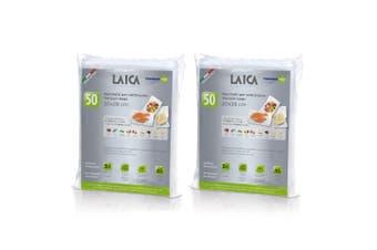 2x 50PK Laica Vacuum Sealer Bags 20 x 28cm Food Storage Seal Freezer BPA Free