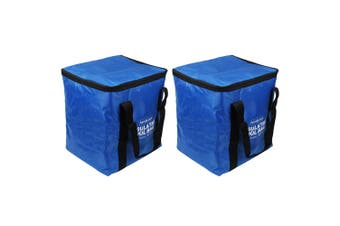 2Pk White Magic Insulated 30L Cool Bag Storage Cooler Drink Food Container Blue