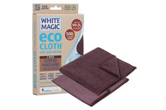 2PK White Magic Eco Cloth 32cm Cleaning Reusable Cloths for Coffee Machine BR