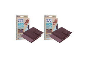 4PK White Magic Eco Cloth 32cm Cleaning Reusable Cloths for Coffee Machine BR