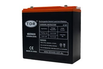 TDR 6-DZM-20 6DZM20 12V 20AH AGM DEEP CYCLE Battery for SCOOTER GOLF CART BUGGY Disability Wheelchair UPS Solar