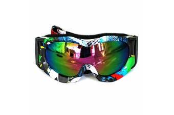 Graffiti Kids Boys Girls Eyewear Goggles Protection Gear for Outdoor Bike Sport Riding Cycling BMX Cycling Skateboard