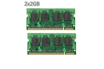 4GB (2x 2GB) PC2-5300 DDR2 667 MHZ 200pin Laptop Memory RAM SODIMM Kit