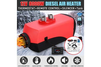 Diesel Air Heater All IN ONE 8KW LCD Switch Remote Caravan Motorhome Trailer