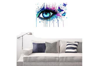 40*50cm Multi-colored Eye Paint By Numbers DIY Kit Canvas Art Painting Wall Decor Framed(Framed)