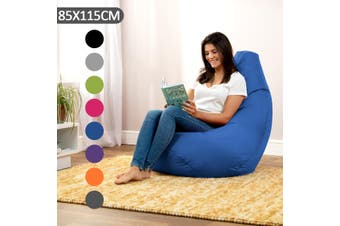 Waterproof Bean Bag Chair Indoor/Outdoor Gamer Beanbag Seat Adult Kids Sizes(Black)