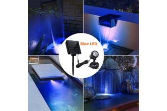 LED Underwater Spot Landscape Solar Lights IP68 Garden Fountain Pond Pool Lamp(Blue Light)